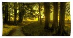 Forest Path Bath Towel by Jean OKeeffe Macro Abundance Art