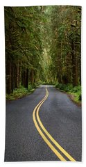 Forest Road Hand Towel by David Andersen