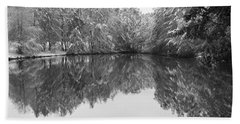 Bath Towel featuring the photograph Forest Snow by Miguel Winterpacht