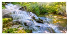 Forest Stream And Waterfall Bath Towel