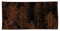 Forest Sunset, Russia Bath Towel