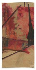 Hand Towel featuring the painting Forgive My Tears by Mini Arora