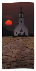 Fort Belmont Sunset Hand Towel