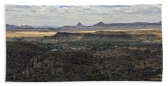 Fort Davis From Davis Mountains State Park Bath Towel