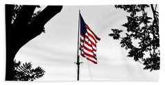 Fort Mchenry Flag Color Splash Bath Towel