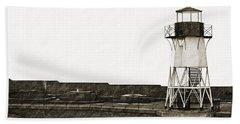 Fort Point Lighthouse Bath Towel