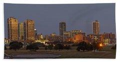 Fort Worth Skyline Golden Hour Hand Towel