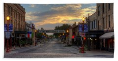 Fort Worth Stockyards Sunrise Bath Towel