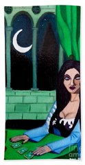 Hand Towel featuring the painting Fortune Teller by Don Pedro De Gracia