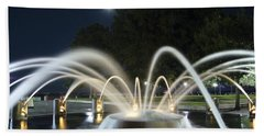 Fountain Charleston Waterfront Park Hand Towel