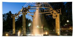 Fountain In Riverfront Park Hand Towel