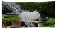 Hand Towel featuring the photograph Fountains by Jennifer Ancker