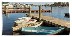 Bath Towel featuring the photograph Four Boats  by Cynthia Guinn