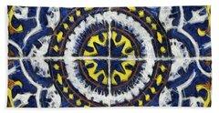 Four Painted Tiles-mexico Bath Towel