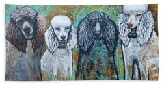 Four Poodles Hand Towel