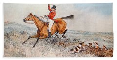 Fox Hunting Hand Towel