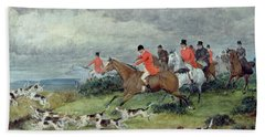 Fox Hunting In Surrey Hand Towel
