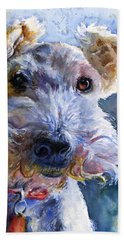 Fox Terrier Full Hand Towel by John D Benson