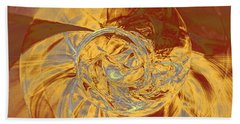 Fractal Ammonite Bath Towel by Menega Sabidussi