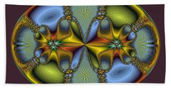 Fractal Art Egg Hand Towel