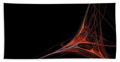 Bath Towel featuring the photograph Fractal Red by Henrik Lehnerer