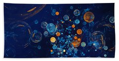 Fractal Soapbubbles - Abstract In Blue And Orange Bath Towel by Menega Sabidussi