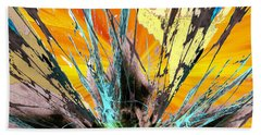 Fractured Sunset Bath Towel
