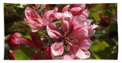 Fragrant Crab Apple Blossoms Hand Towel