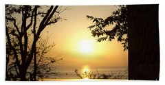 Framed Golden Sunset Hand Towel