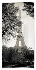 The Eiffel Tower Paris France Hand Towel