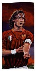 Francesco Totti Hand Towel by Paul Meijering