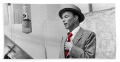 Frank Sinatra Painting Bath Towel