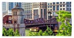 Chicago Franklin Street Bridge Hand Towel