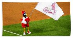 Fredbird Celebrates A Win Hand Towel