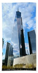 Freedom Tower Bath Towel by Stephen Stookey