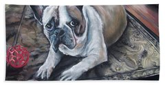 french Bull dog Hand Towel