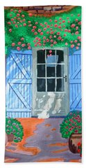 Bath Towel featuring the painting French Farm Yard by Magdalena Frohnsdorff