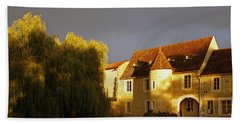French House At Sunset Bath Towel