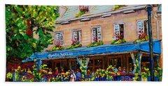 French Restaurant Jardin Nelson Paris Style Bistro Place Jacques Cartier Terrace Garden C Spandau   Bath Towel