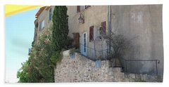French Riviera - Ramatuelle Bath Towel by HEVi FineArt