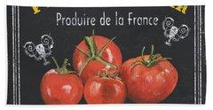 French Vegetables 1 Bath Towel