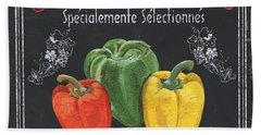French Vegetables 3 Bath Towel
