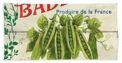 French Veggie Sign 1 Bath Towel