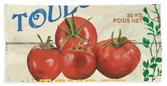 French Veggie Sign 3 Hand Towel by Debbie DeWitt