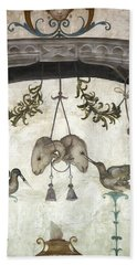 Fresco On The Ceiling In Palazzo Vecchio Hand Towel