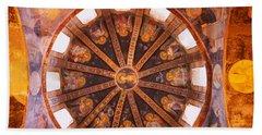 Frescos In A Church, Kariye Museum Bath Towel