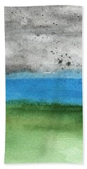 Fresh Air- Landscape Painting Hand Towel