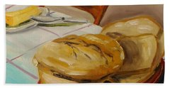 Bath Towel featuring the painting Fresh Bread by John Williams