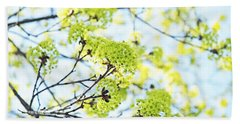 Bath Towel featuring the photograph Fresh Spring Green Buds by Brooke T Ryan