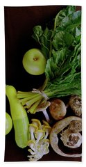 Fresh Vegetables And Fruit Bath Towel